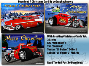 Custom Hot Rod Christmas Cards Ready To Print