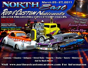 Northeast Custom Car Show Flyer Design 2011